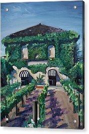 Tra Vigne Acrylic Print by Donna Tuten