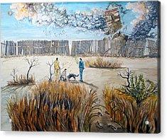 Traces Of Inner Struggles Acrylic Print by Lazaro Hurtado
