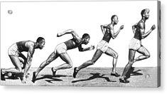 Track Star Jesse Owens Acrylic Print