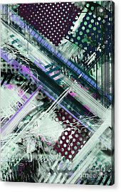 Tracking Code Acrylic Print by Keith Mills