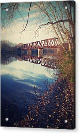 Acrylic Print featuring the photograph Tracks And Reflections by Jeremy McKay