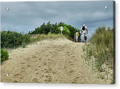 Acrylic Print featuring the photograph Tracks In The Sand by Barbara Manis