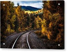 Tracks Through The Mountains  Acrylic Print by Bob Orsillo