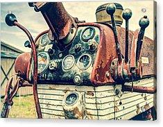 Tractor Dash - Farmall 560 Diesel Acrylic Print by Gary Heller