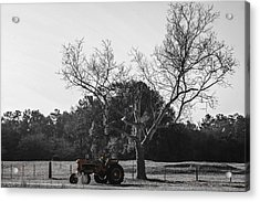 Tractor For Sale Acrylic Print by Steven  Taylor