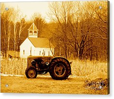 Tractor In The Field Acrylic Print