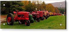 Tractor Lineup Acrylic Print by Don Dennis