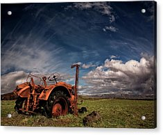 Tractor Acrylic Print by ?orsteinn H. Ingibergsson