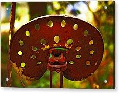 Tractor Seat Acrylic Print by Rowana Ray