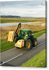 Tractor Acrylic Print by Sharon Lisa Clarke