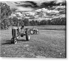 Acrylic Print featuring the photograph Tractors by Howard Salmon