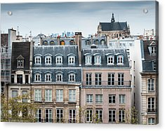 Traditional Buildings In Paris Acrylic Print by Mmac72