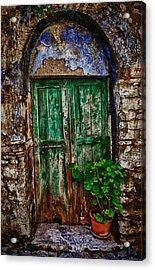 Traditional Door Acrylic Print by Emmanouil Klimis