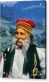 Traditional Dressed Man In Delphi Acrylic Print