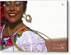 Traditional Ethnic Dancers In Chiapas Mexico Acrylic Print by David Smith