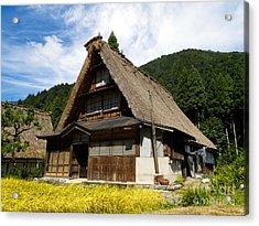Traditional Gassho-zukuri Style House In Suganuma Village - Gokayama - Japan Acrylic Print by Chieko Shimado