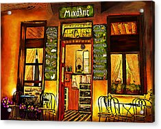 Traditional Greek Shop At Skopelos Acrylic Print by Persephone Artworks
