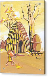 Traditional House Massa Northern Cameroon Acrylic Print by Emmanuel Baliyanga