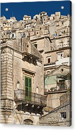 Traditional Houses Of Modica In Sicily Italy Acrylic Print
