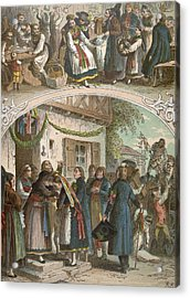 Traditional Hungarian Wedding, Hungary, 19th Century Acrylic Print by Hungarian School