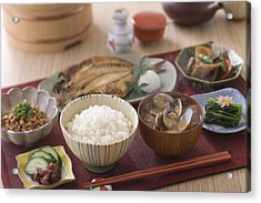 Traditional Japanese Breakfast Acrylic Print by Mixa