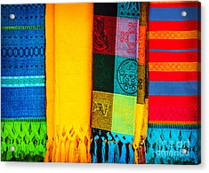 Traditional Mexican Neckerchief Acrylic Print by Anna Om