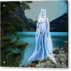 Traditional Modern Female Nude Lady Of The Lake Acrylic Print