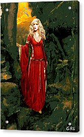 Acrylic Print featuring the painting Traditional Modern Original Painting Stevie Nicks Rhiannon by G Linsenmayer