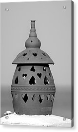 Traditional Roof Pottery In Sifnos Island Acrylic Print by George Atsametakis