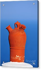 Traditional Roof Pottery In Sifnos Island Acrylic Print