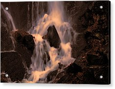 Traditional Waterfall At Sunset Acrylic Print by Lawrence Christopher