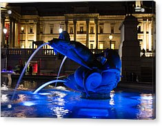 Trafalgar Square At Night Acrylic Print
