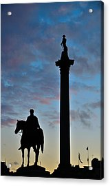 Trafalgar Square At Sunset Acrylic Print by Steven Richman