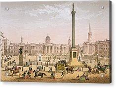 Trafalgar Square, C.1862 Acrylic Print by Achille-Louis Martinet