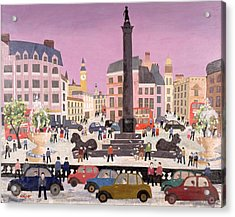 Trafalgar Square Collage Acrylic Print by William Cooper