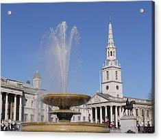 Trafalgar Square Fountain. Acrylic Print