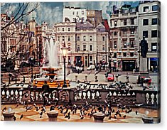 Trafalgar Square London Acrylic Print by Diana Angstadt