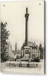 Trafalgar Square, With Big Ben Acrylic Print by Mary Evans Picture Library
