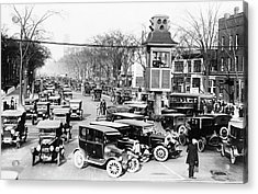 Traffic Control In Detroit Acrylic Print by Library Of Congress