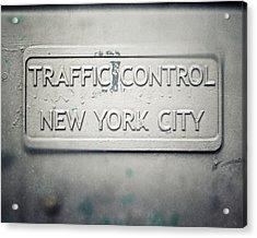 Traffic Control Acrylic Print by Lisa Russo