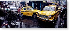 Traffic In A Street, Calcutta, West Acrylic Print by Panoramic Images