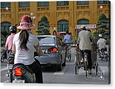 Traffic In Downtown Hanoi Acrylic Print