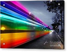 Traffic In Los Angeles Acrylic Print by Konstantin Sutyagin