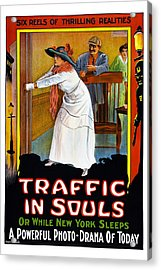 Traffic In Souls, Us Poster, 1913 Acrylic Print by Everett