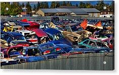 Traffic Jam - Ferrell's Auto Wrecking Acrylic Print by David Patterson