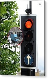 Traffic Lights And Mirror Acrylic Print