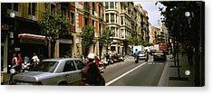 Traffic On A Road, Barcelona, Spain Acrylic Print
