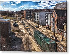 Traffic On Lincoln Street Acrylic Print