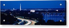 Traffic On The Road, Washington Acrylic Print by Panoramic Images