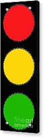 Traffic Signal Typography By Andee Design Acrylic Print